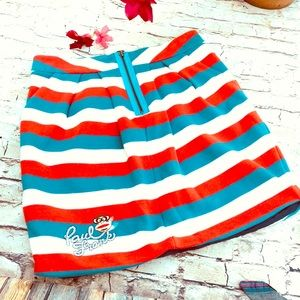 Paul Frank fleece sweatshirt fabric skirt lined